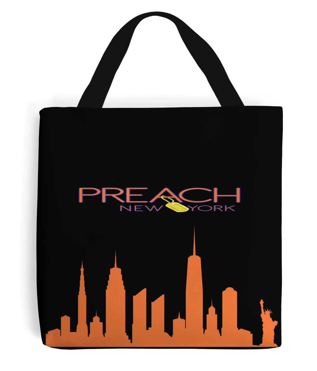 PREACH NYC SKYLINE CANVAS TOTE BAG Homeware, Accessories - MORILLO ENTERPRISE