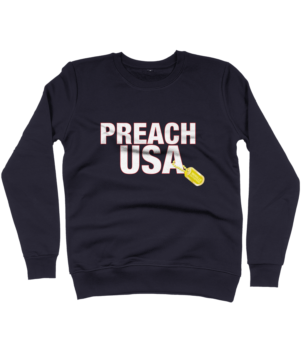 PREACH USA LOGO SWEATSHIRT Clothing - MORILLO ENTERPRISE