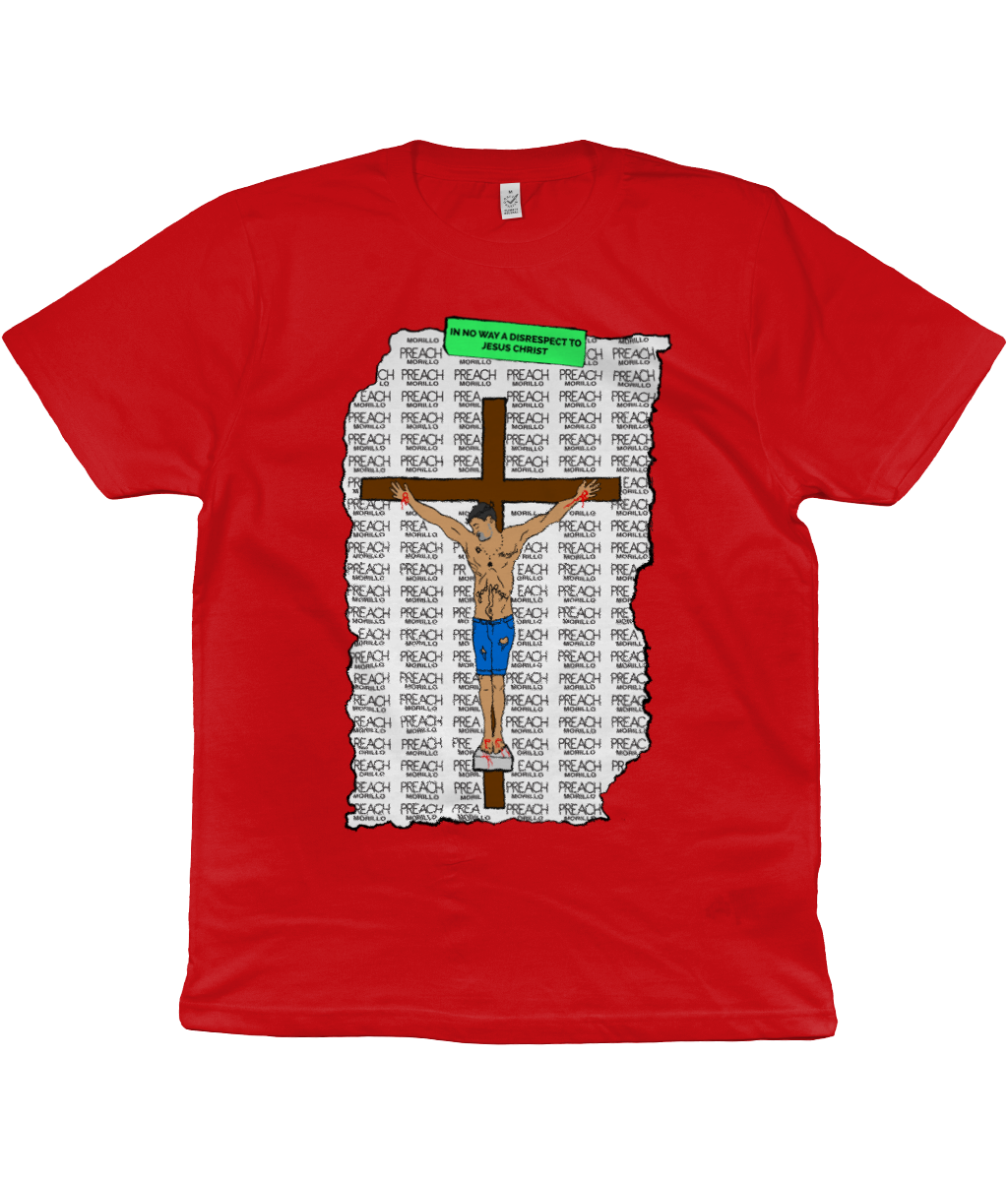 PREACH Crucifixion Graphic Jersey Tee Clothing - MORILLO ENTERPRISE