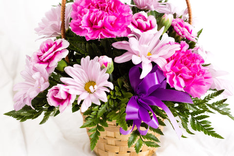 Flower Arrangement with Basket