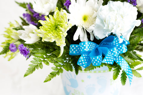 """It's A Boy"" Flower Arrangement"