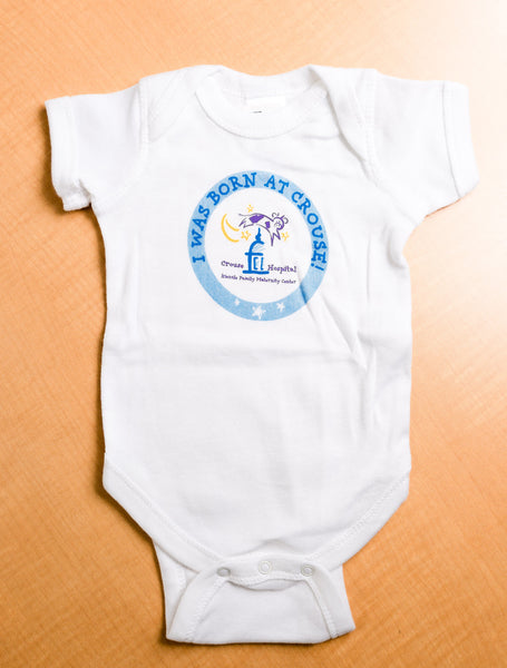 'I Was Born at Crouse' Onesie