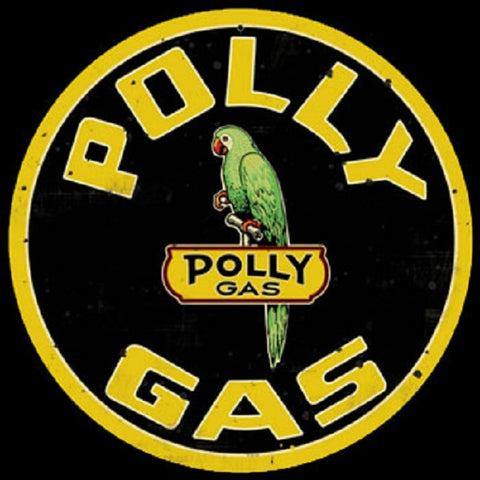 Polly Gas Vintage Advertisement Mirror Sign
