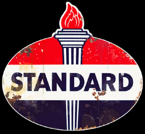 Standard Gas Oil Vintage Logo Advertisement Mirror Sign