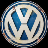Volkswagen Vintage Logo Advertisement Mirror Sign
