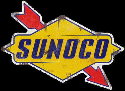 Sunoco Gas Oil Vintage Logo Advertisement Mirror Sign
