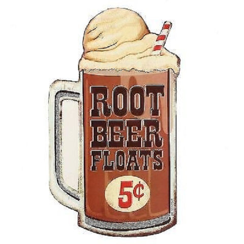 Root Beer Floats 5 Cents Advertising  Mirror Sign