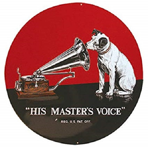 RCA Victor His Masters Voice  Advertising  Mirror Sign