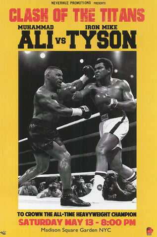 Muhammad Ali Mike Tyson Clash Of The Titans Poster 24x36