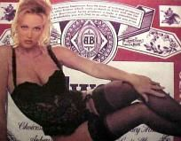 Budweiser Sexy Girl In Black Lace Poster 16x20