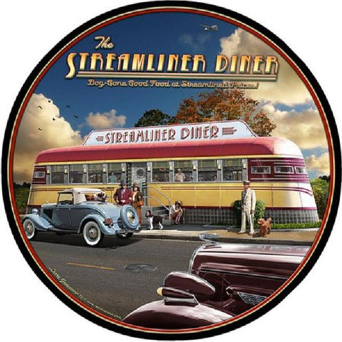 Streamliner Diner Train  Vintage Advertisement Mirror Sign