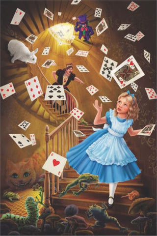 Alice In Wonderland Fantasy  Poster 24x36