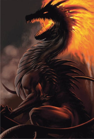 Belial Dragon L.A. Williams Fantasy Dragon Poster 24x36