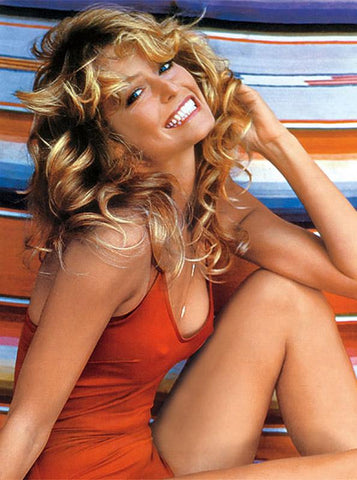 Farrah Fawcett Red Swimsuit Charlie's Angels  8x10 Photograph
