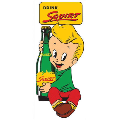 Squirt Boy Vintage Advertisement Mirror Sign