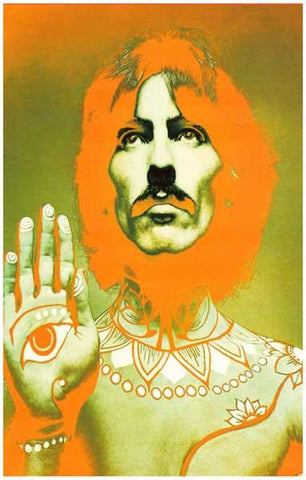 George Harrison Psychedelic Beatles Poster