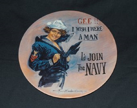 Gee I Wish I Were A Man I'd Join The Navy Mirror Sign