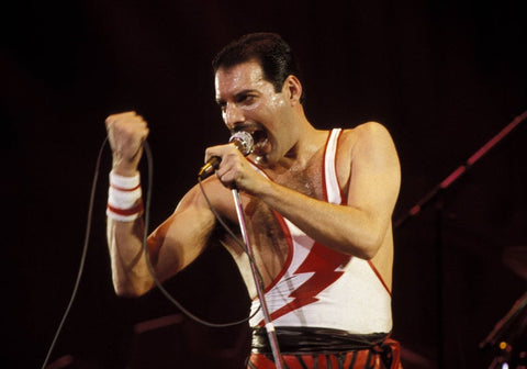 Queen Freddie Mercury Live On Stage Color  8x10 Photograph