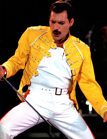Queen Freddie Mercury Yellow Jacket Live On Stage Color  8x10 Photograph