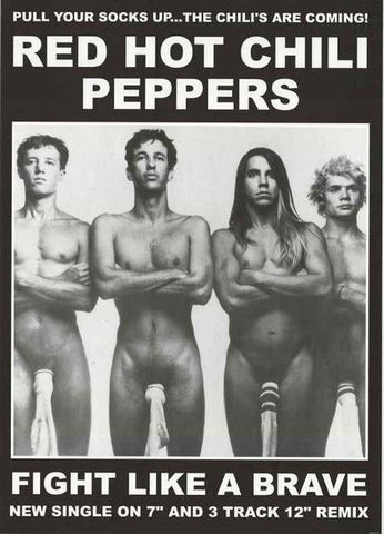 Red Hot Chili Peppers Fight Like A Brave 1987 Rare  Poster