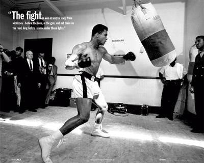 Muhammad Ali The Fight Quote  Rare Poster