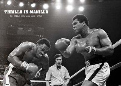 Muhammad Ali vs Smokin Joe Frazier Thrilla In Manilla 1975  Rare Poster