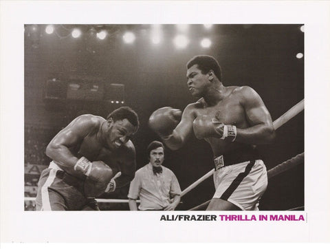 Muhammad Ali vs Smokin Joe Frazier Thrilla In Manilla Rare Poster