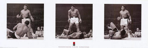 Muhammad Ali 3 Picture Montage Rare Poster