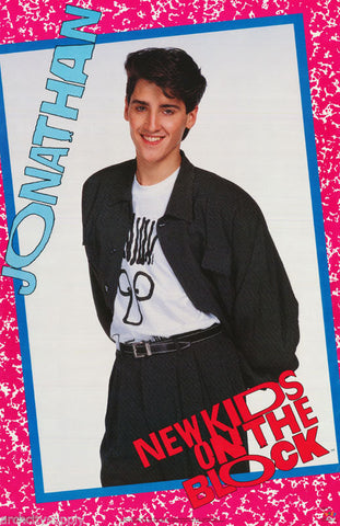 New Kids On The Block Jonathan Knight 1989 Rare Vintage Poster