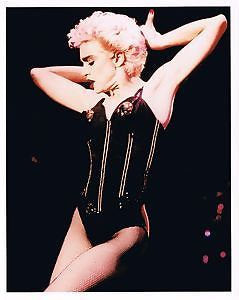 Madonna In Black Lace  Color   8x10 Photograph