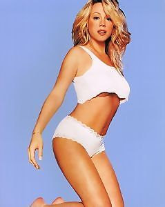 Mariah Carey In White Sexy  Color   8x10 Photograph