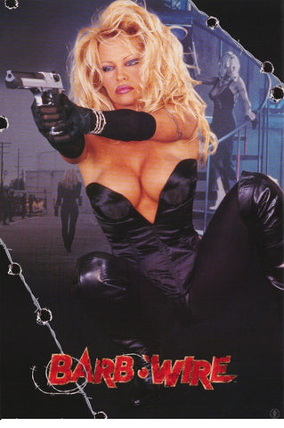 Pamela Anderson Movie  Barb Wire  Rare Vintage Poster