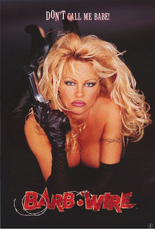 Pamela Anderson Movie  Barb Wire Don't Call Me Babe  Rare Vintage Poster