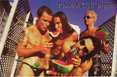 Red Hot Chili Peppers Watermelon Rare  Poster
