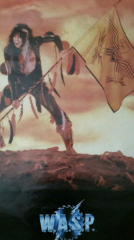 W.A.S.P.  WASP Blackie Lawless Last Command 1985 Rare Poster