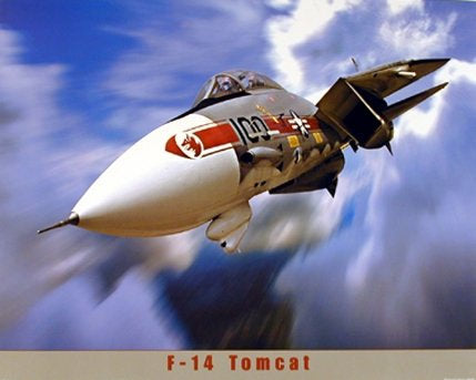 F-14 Tomcat Fighter Plane Military Planes Poster