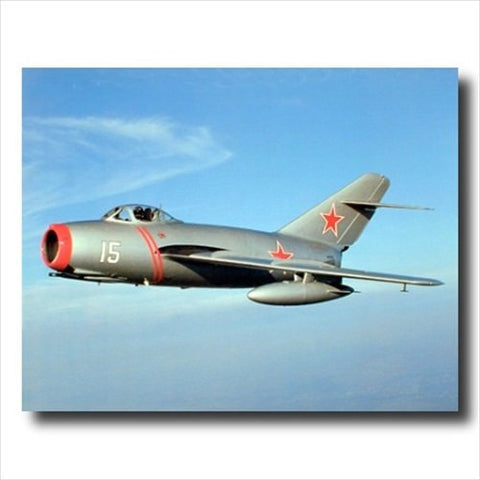 Russian Mig-15 Fighter Jet Military Planes Poster