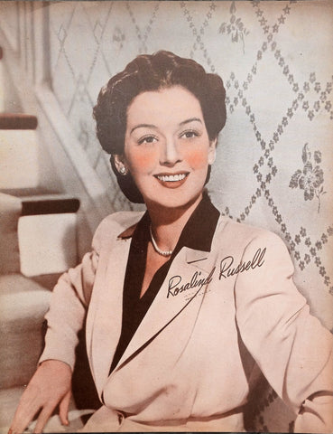 Rosalind Russell Vintage Sepia 8x10 Photographic Print