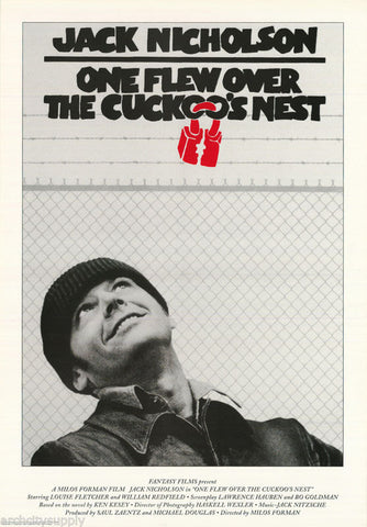 One Flew Over The Cuckoo's nest Rare Vintage Poster