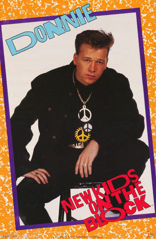 New Kids On The Block Donnie Wahlberg 1989 Rare Vintage Poster