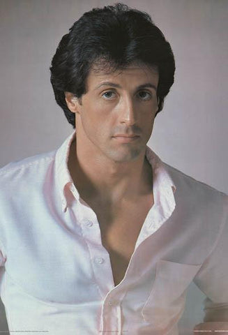 Sylvester Stallone 1984 Portrait Rare Vintage Poster