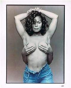 Janet Jackson Topless Sexy  Color   8x10 Photograph