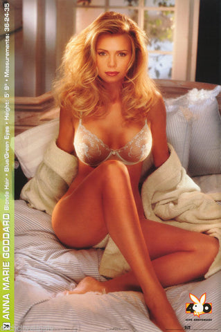 Playboy Model Anna Marie Goddard 40th Anniversary 1994 Rare Poster