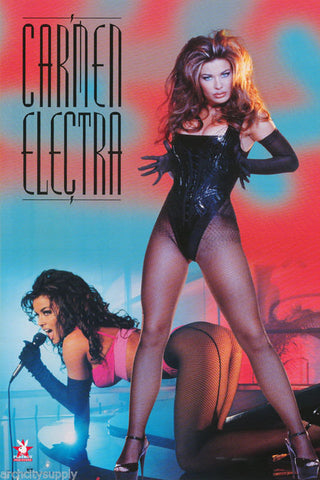 Carmen Electra Singing Playboy Model  Rare Poster