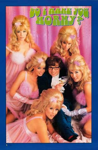 Austin Powers Mike Myers Rare Vintage Poster
