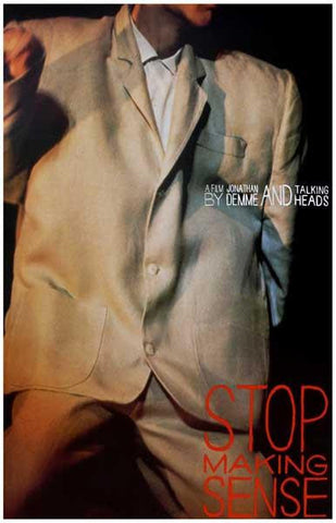 The Talking Heads Stop making Sense Album Cover 1984  Rare Poster