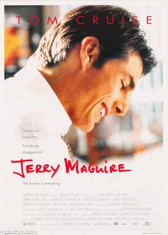 Jerry MaGuire Tom Cruise  Rare Vintage Poster