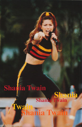 Shania Twain Live On Stage Rare Poster