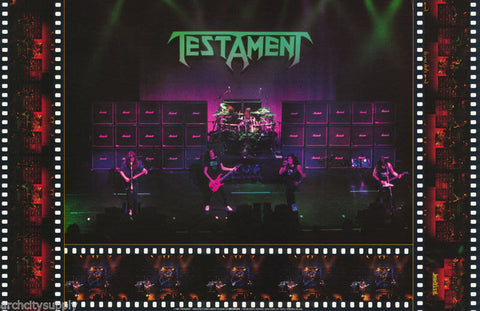 Testament Live On Stage 1990 Rare Poster