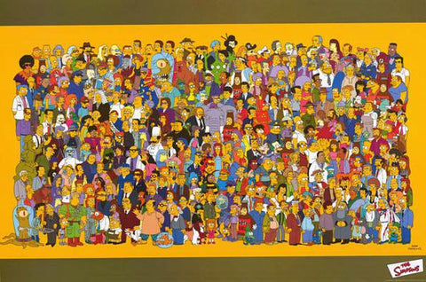 The Simpsons Entire Cast  Rare Vintage Poster 40x60